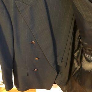 Ralph Lauren Double Breasted Pinstripe Suit